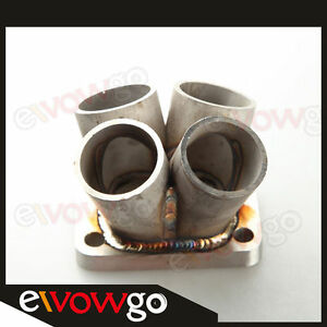 4-1-4-Cylinder-Manifold-Header-Merge-Collector-Stainless-Steel-T3-T3-T4-Flange