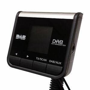PAMA Plug-&-Play Car DAB Digital Radio Adapter with FM Transmitter + AUX IN/OUT