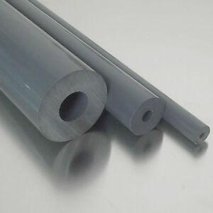 PVC-U Kunststoffstab auf Zuschnitt 10cm PVC Rundstab grau /Ø 15mm L: 100mm