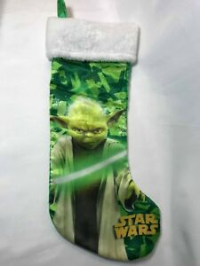 Star Wars Green Satin Christmas Stocking Yoda 2015