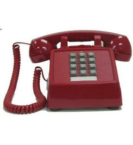 Cortelco-250047-VOE-20MD-Desk-Phone-w-Electronic-Ringer-RED-ITT-2500-VOE-MD-RD