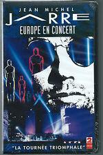 K7 VHS NEUVE.JEAN-MICHEL JARRE.EUROPE EN CONCERT..SOUS BLISTER.SEALED.