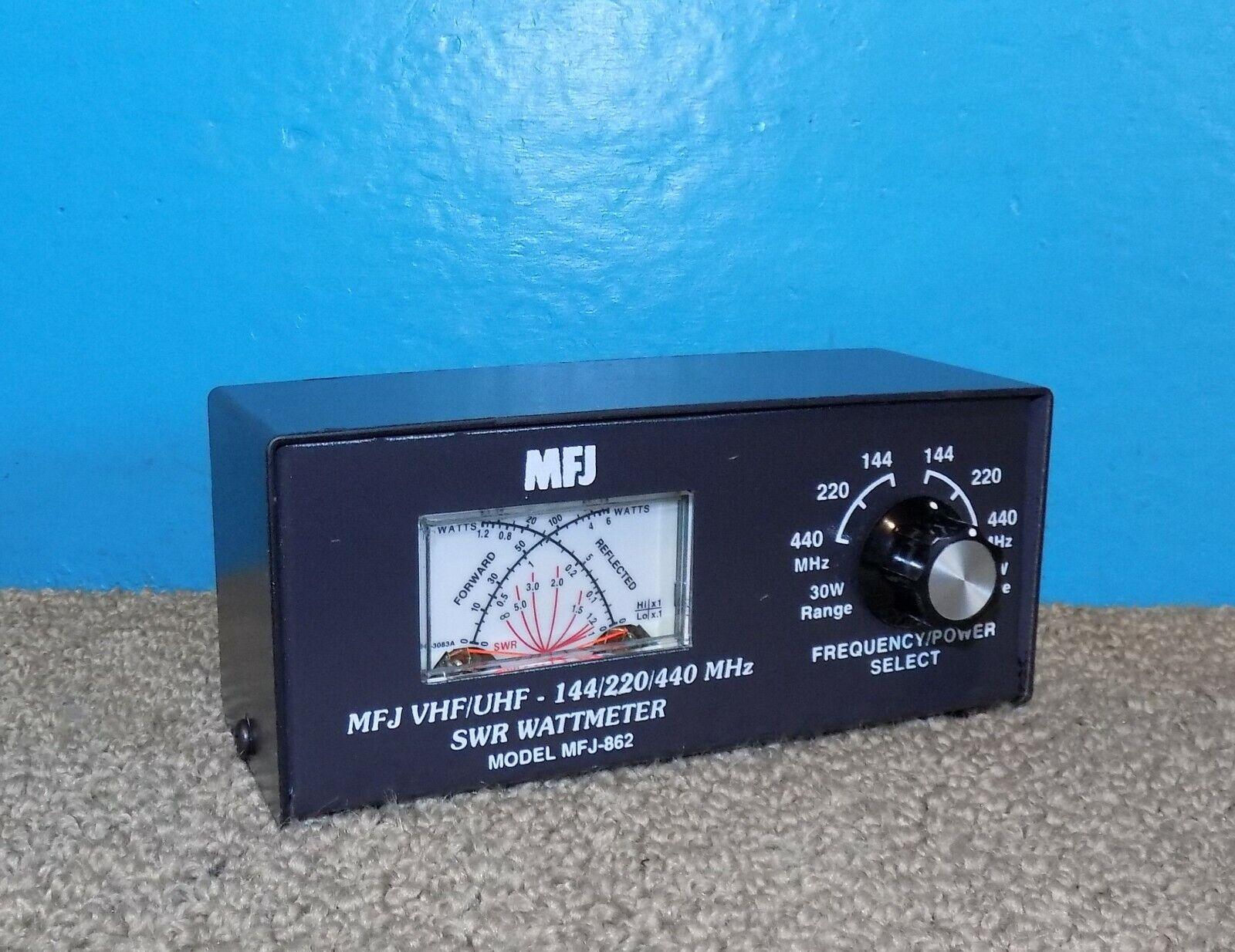 lilwing3 MFJ-862 VHF/UHF 144/220/440MHz SWR/Wattmeter Very Good Condition
