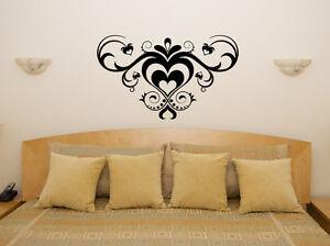 Decorato Cuore Design Camera Da Letto Soggiorno Cena Decalcomania Muro Arte Foto Ebay
