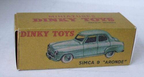 Repro box Dinky nº 24u Simca Aronde 9