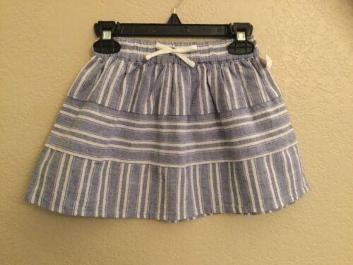 NEW Genuine Kids From Oshkosh Girls Skirt white//light blue CHOOSE SIZE!