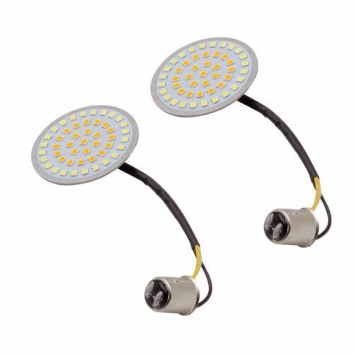 2X Turn Signal 1157 LED Bullet-Style Blinker Indicator Light for Harley-Davidson