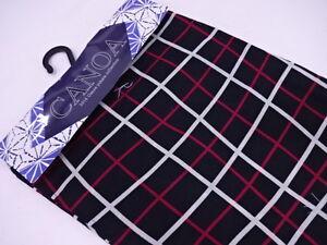 Bnwt Japonais Unisexe Bleu Marine/blanc/rouge Carreaux Summer Cotton Yukata/kimono/peignoir L/xl-robe L/xlafficher Le Titre D'origine
