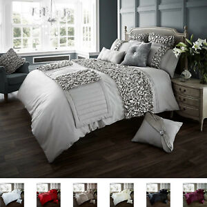 Details about Verina Luxurious Frills Design Duvet set Quilt Covers Bedding  Sets / Bed Runners