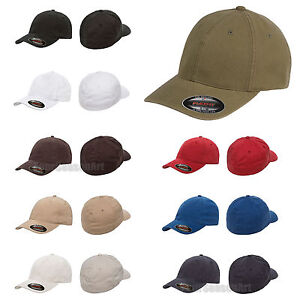 eb78c783182 Image is loading FLEXFIT-Mens-Garment-Washed-Fitted-Baseball-Cap-Blank-