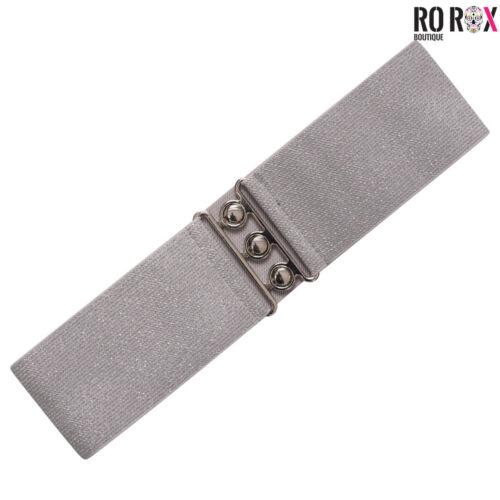 Ro Rox Elasticated Wide Classic Nurse Belt Vintage Retro 1950/'s Waist Cincher