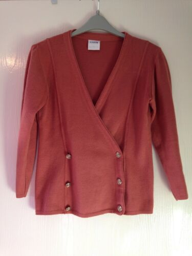 Brown 10 Autumn S Size Ladies Spring Winter Cardigan Eastex Orange about xqwIYSYg