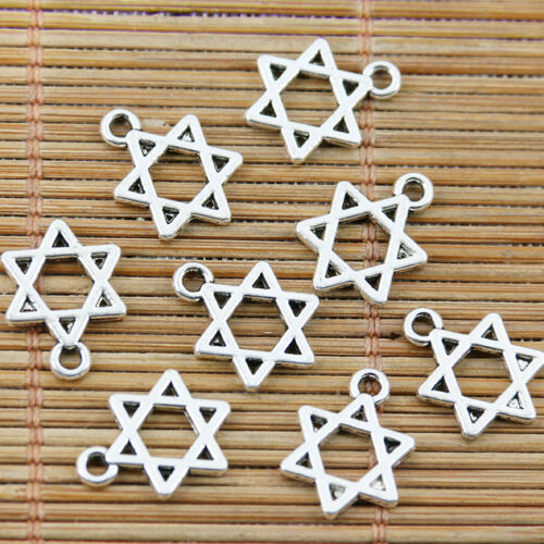 In Car Beads /& Star of David Charm Jewish Judaism Māḡēn Dāwīḏ Hexagram Pendant