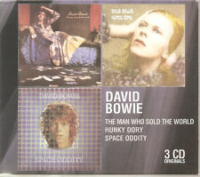 DAVID BOWIE The Man Who Sold The World/Hunky Dory/Space Oddity 3CD Slipcase Box