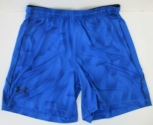 Mens-Under-Armour-HeatGear-Mirage-8-034-Shorts-Running-Gym-Training-Bottoms-Blue-XL