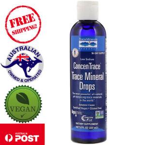 Trace Minerals Research ConcenTrace Trace Mineral Vegan Drops 8 fl oz (237 ml)