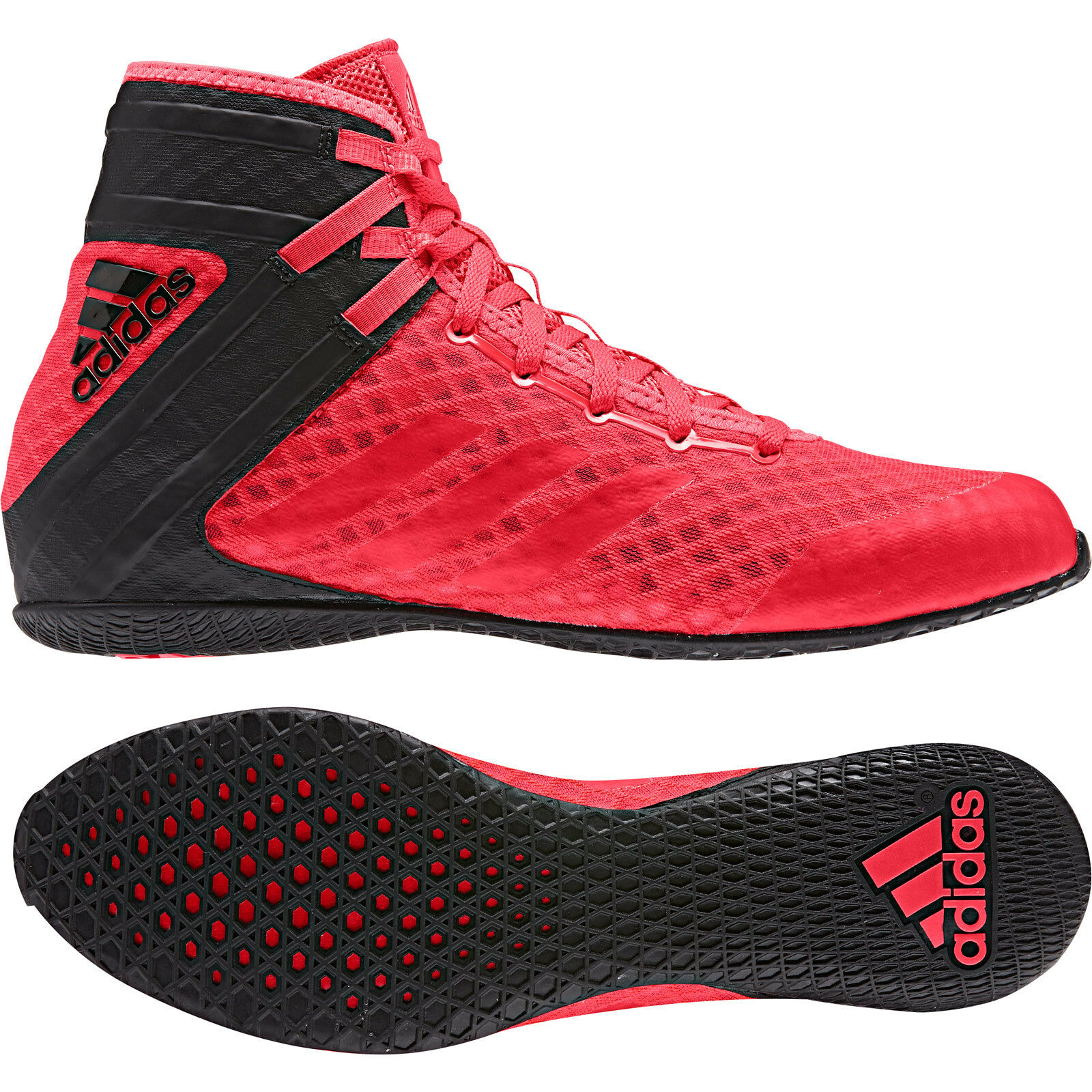 Adidas Speedex 16.1 Boxing Boots Mens Black & Red Sports shoes Trainers
