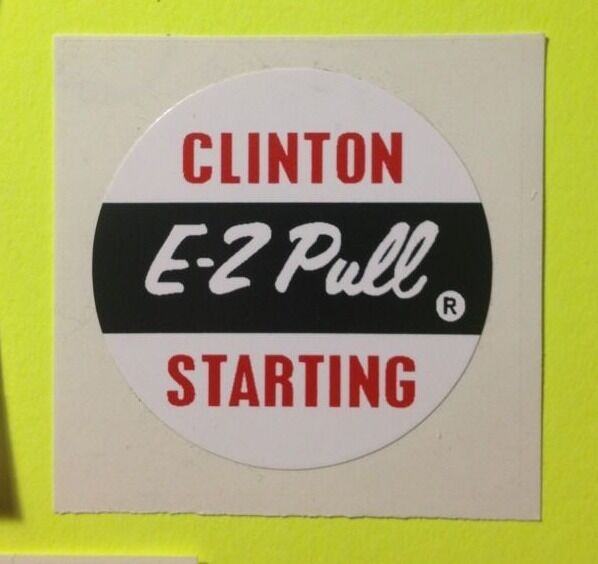 Clinton engine decal set  4 Cycle 4.5-hp E-Z Pull Anvil Set 3 Go Kart