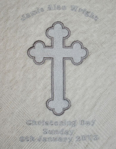 Personalised Christening//Baptism//Naming Day Shawl