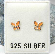 Neu 925 Silber OHRSTECKER SCHMETTERLINGE orange OHRRINGE Butterfly SCHMETTERLING