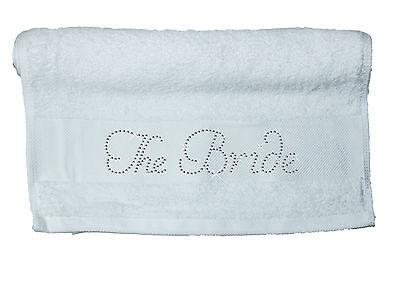 Radient Crystal Bridal Cotton Hand Towel Bride Rhinestone Honeymoon Hen Party Spa Gift A Auf Dem Internationalen Markt Hohes Ansehen GenießEn