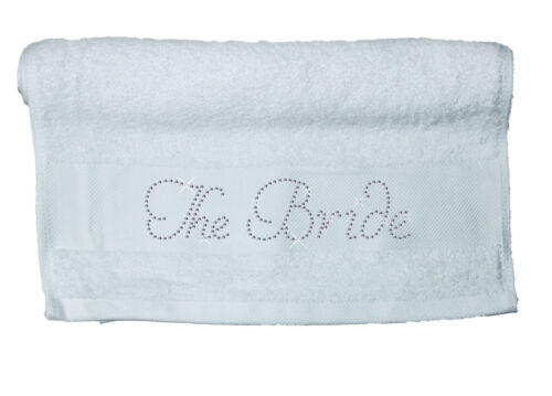 Crystal Bridal Cotton Hand Towel Bride Rhinestone Honeymoon hen party spa gift