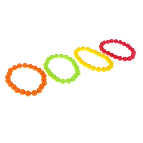 Neon Bead Bracelets Necklace 70/'s /& 80/'s Party Woman Bachelorette Party Decor DS