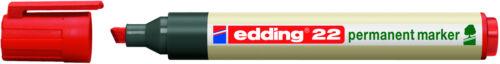 1-5 mm edding® Permanentmarker 22 Schreibfarbe: rot Keilspitze nachfüllbar