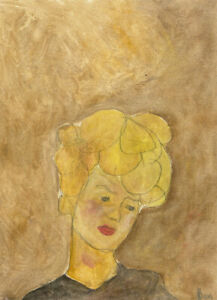 Ben Carrivick - Signed Contemporary Oil, Lady With Curly Blonde Hair