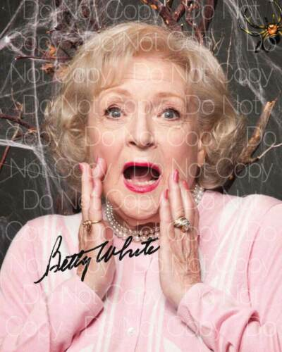 Betty White signed 8X10 photo picture autograph poster RP 2
