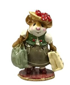 Wee Forest Folk MOLE HOLE Mom Mall Mouse Figurine M-264 Retired Taupe/Green Box
