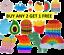 thumbnail 1 - 1 pc Game Push It Pop Bubble Fidget Squeeze Autism Sensory Silicone Toy Stress