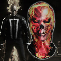 Ghost Rider Flame Skeleton Skull Cycling Balaclava Halloween Costume Face Mask