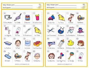 Paquete Digital Para Baby Shower Imprimelo En Casa Juegos Loteria