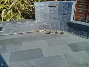 Brazilian Grey Slate Paving Patio amp Garden Slabs  28m2 delivered  All sizes - <span itemprop=availableAtOrFrom>Bedfordshire, United Kingdom</span> - Please refer to our website www.blueskystone.com, or the item listing if specifically detailed. - Bedfordshire, United Kingdom