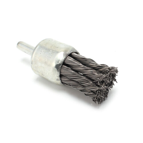 "1Pcs 25mm 1//4/""Shank Stainless Steel Knot Wire End Brush For Die Grinder or Drill"