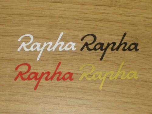4 x Rapha Cycling Stickers Printed Bike Frame Forks Wheel Helmet Decal Phone Box