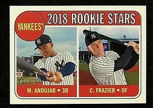 2018-Topps-Heritage-114-Miguel-Andujar-Clint-Frazier-Rookie-Stars-Yankees