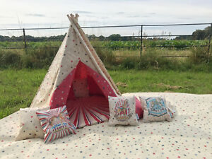 detailed look 8becf fc0e9 Details about Carnival Stars CHILDRENS TEEPEE PLAY TENT 4ft/5ft/6ft  WATERPROOF indoor/outdoor