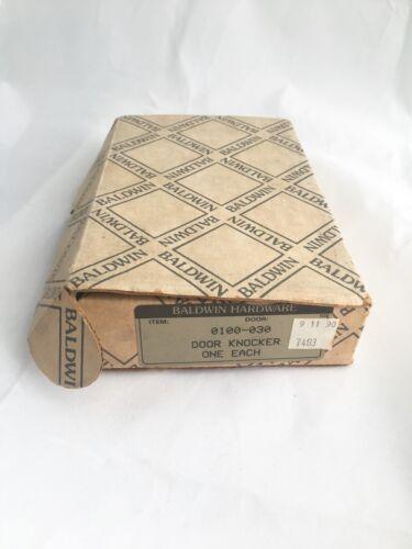 Vintage Baldwin Forged Brass 0100-030  Door Knocker New Old Stock Original Box