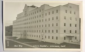 Livermore CA USVA Hospital New Wing Scarce Card Real Picture RPPC Postcard