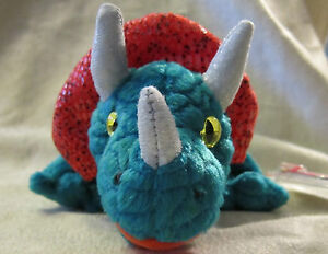 1bf1b0669dc Image is loading Ty-Beanie-Babies-Hornsly-the-Triceratops-DOB-August-