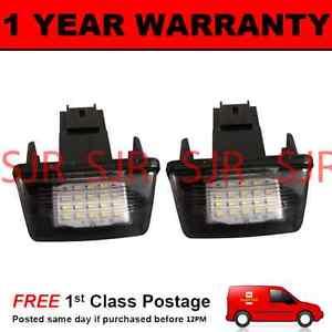 2X-para-Peugeot-206-207-306-307-308-406-407-5008-socio-LED-Lampara-Numero-De-Matricula