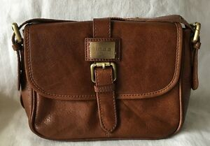 Image Is Loading Linea Weekend Tan Leather Messenger Crossbody Purse Bag