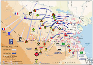 Map-of-Ground-Operations-of-Operation-Desert-Storm-from-February-24-28th-1991