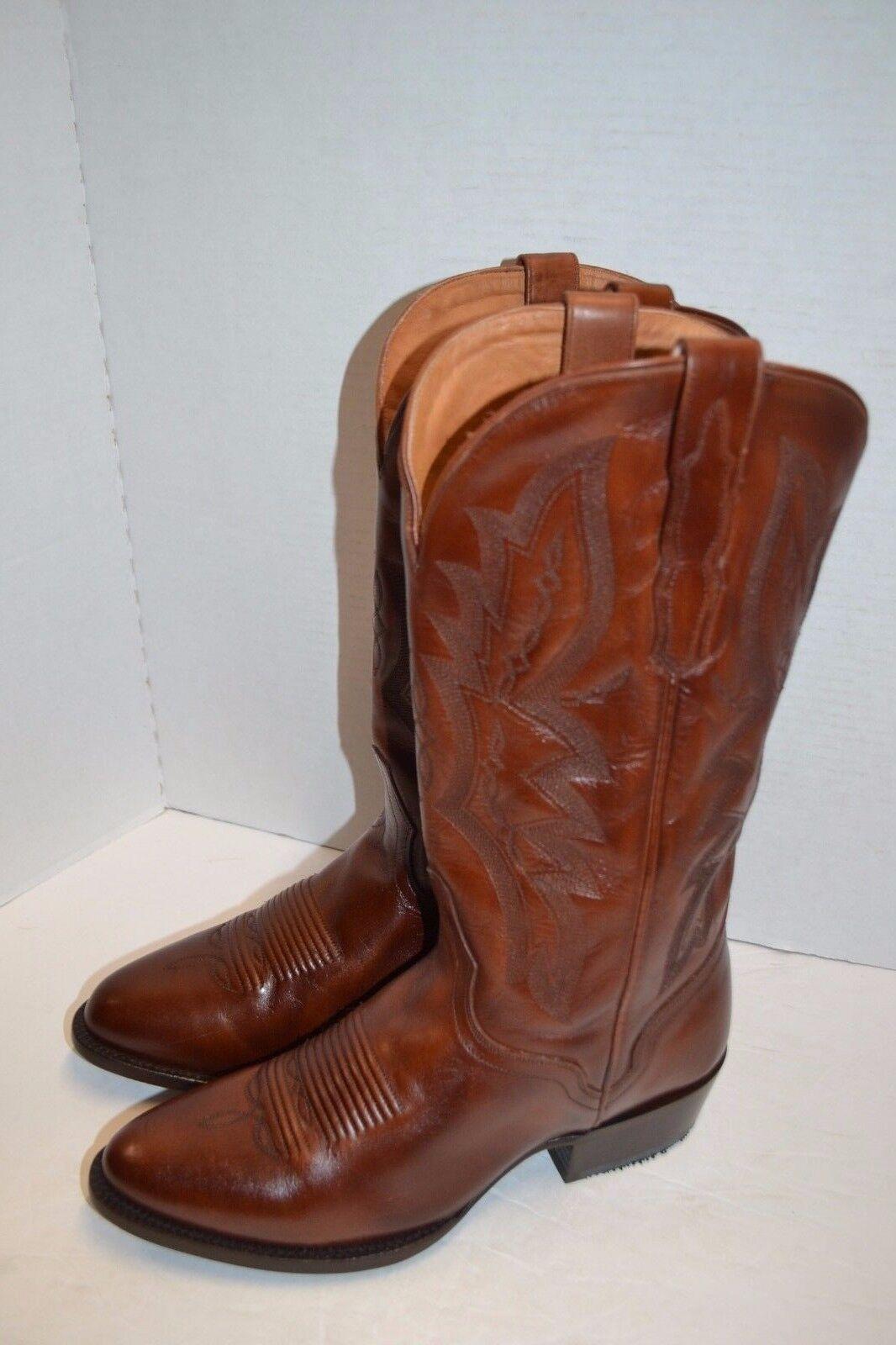 El dorado hecho a mano para hombre 9 D, W vencidos Pantorrilla Occidental botas De Vaquero ED1101