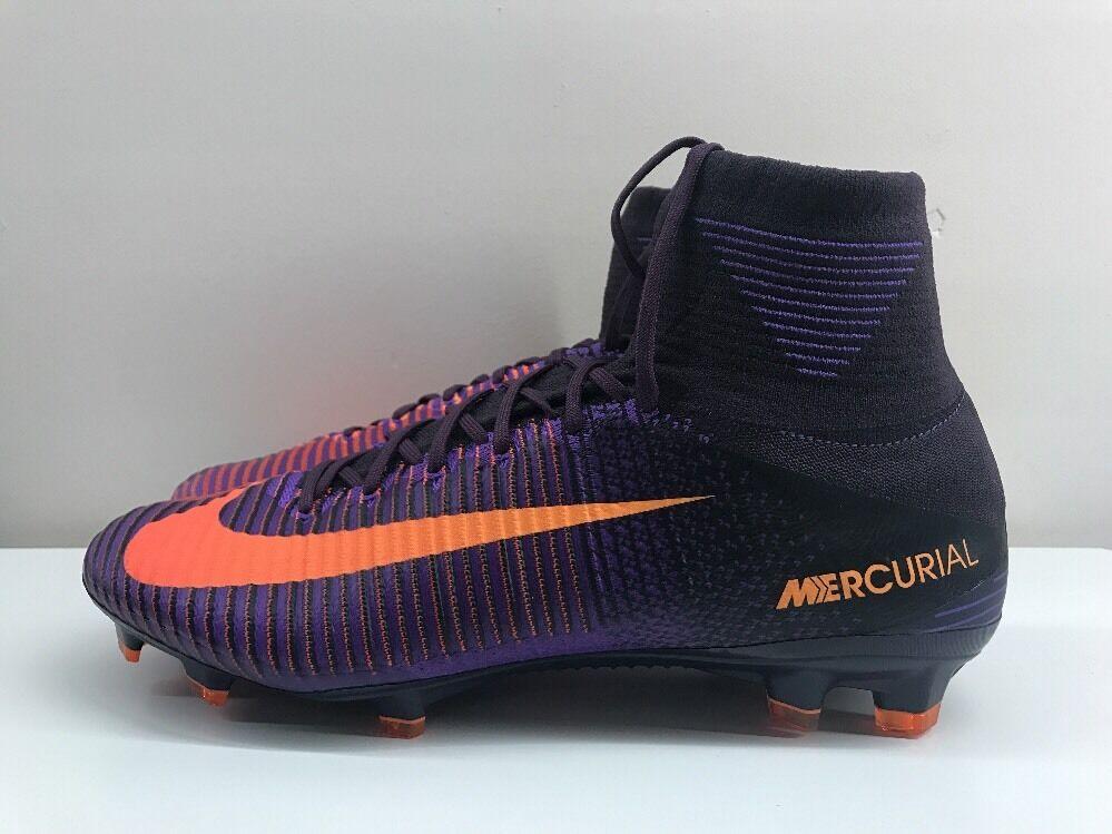 Nike Mercurial súperfly FG Púrpura Naranja V DF 11.5 EUR 47 831940 585
