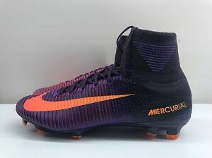 hot sale online d9f3b b61f9 Details about Nike Mercurial Superfly V DF FG Purple Orange UK 11.5 EUR 47  831940 585