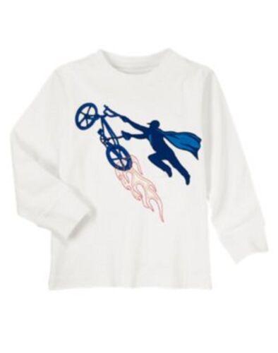 NWT Gymboree Boys Super Dude Flying Bicycle Shirt Size 4 /& 12