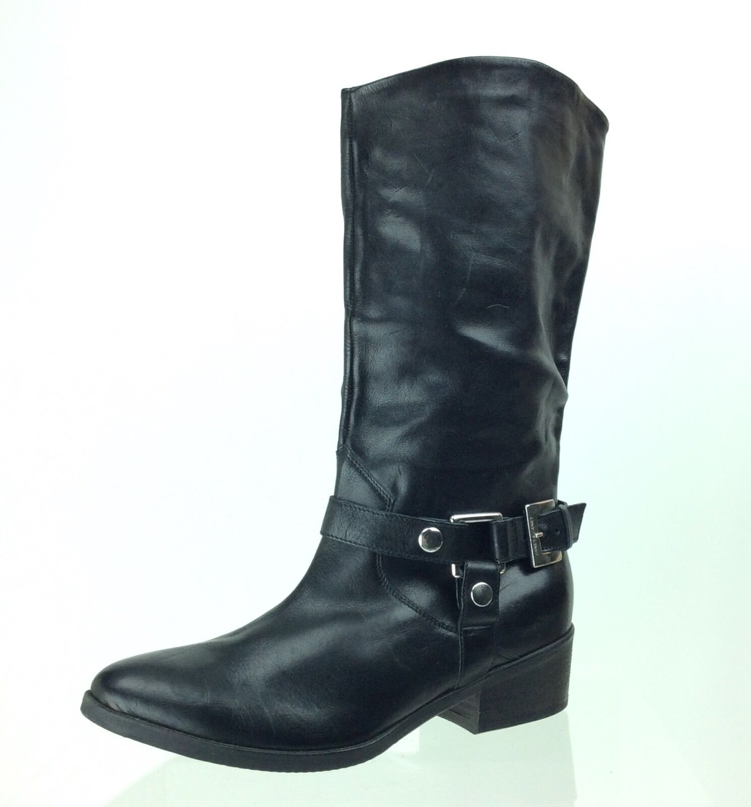Women's Janet And Janet Leather Western Style Moto Short Boots Size 38.5 M NEW